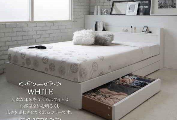 白 ベッド
